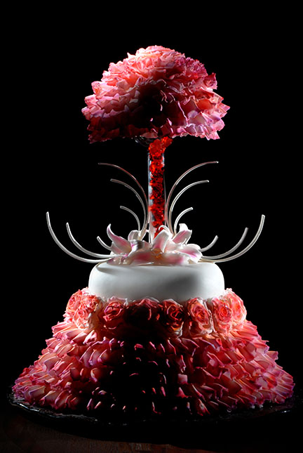 Canada food photography beautiful flower cake picture
