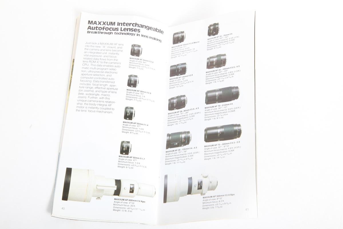 Minolta Maxxum 7000 sales brochure+English+Original+NICE
