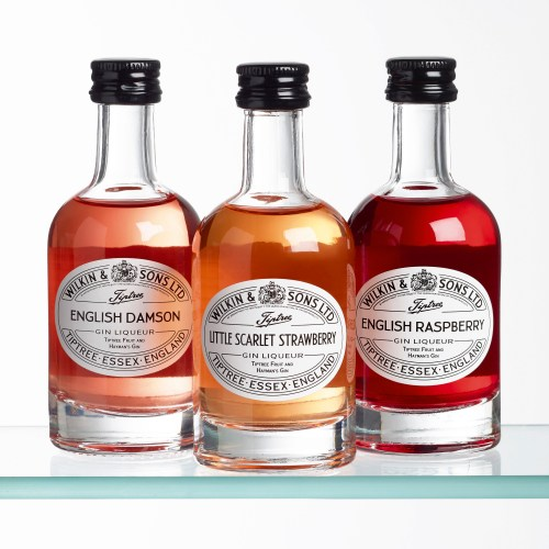 Wilkins & Tiptree miniature gin group shot - Food and drink photography