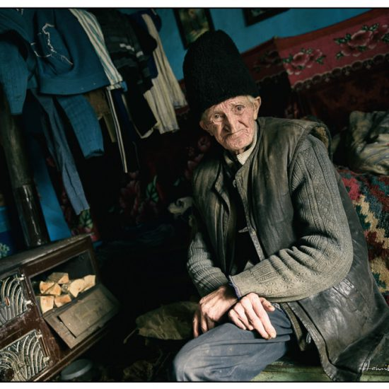 an old man lives alone in romania