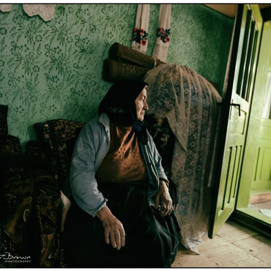 an old woman lives alone in romania