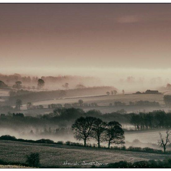 misty fields at dawn in warwickshire © Hamish Scott-Brown