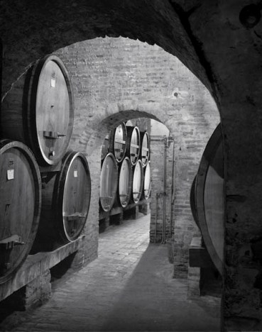 Aging Cellars - Montepulciano, Tuscany - photograph by Jeff Curto