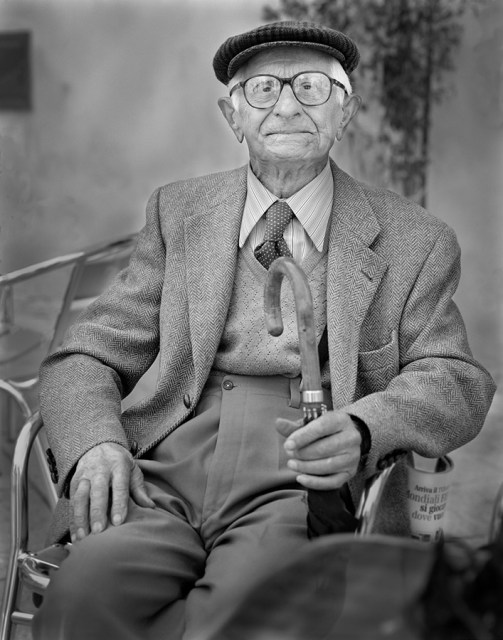 Portrait - 92 Years Old - Matera - photograph by Jeff Curto