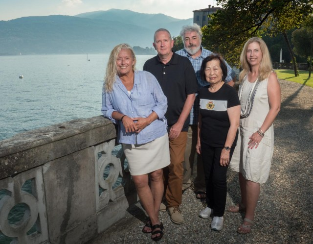 Our great group of photographers on the Italian Lakes in June of 2016