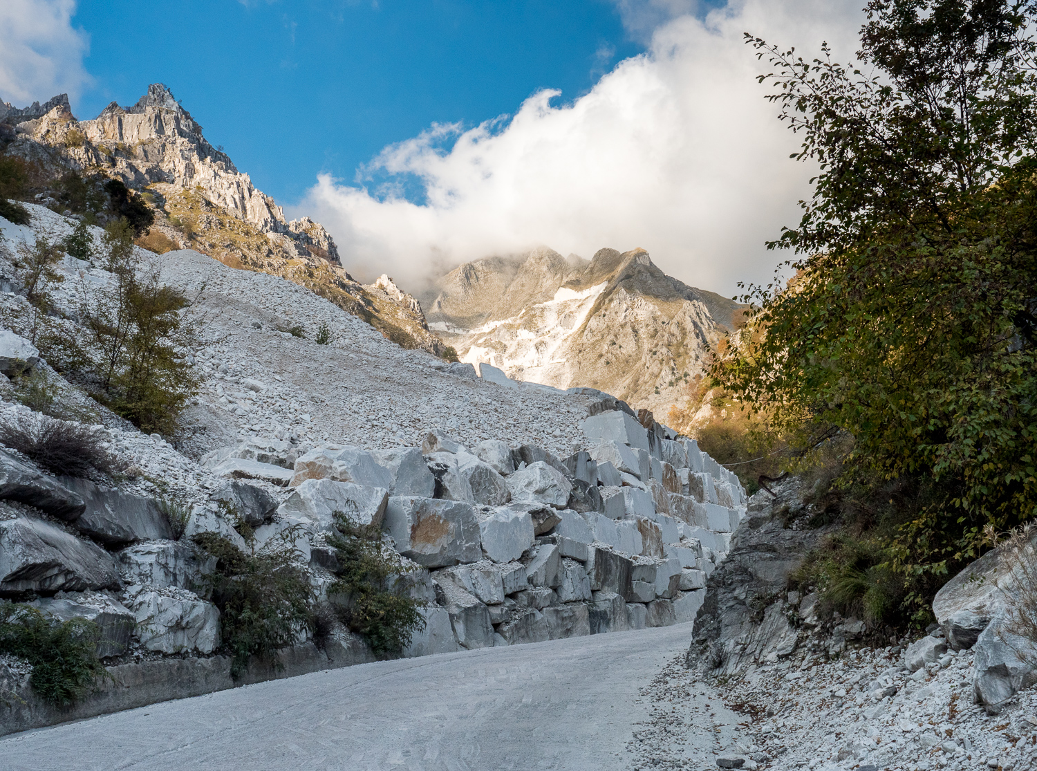 The marble quarries of Carrara, Tuscany