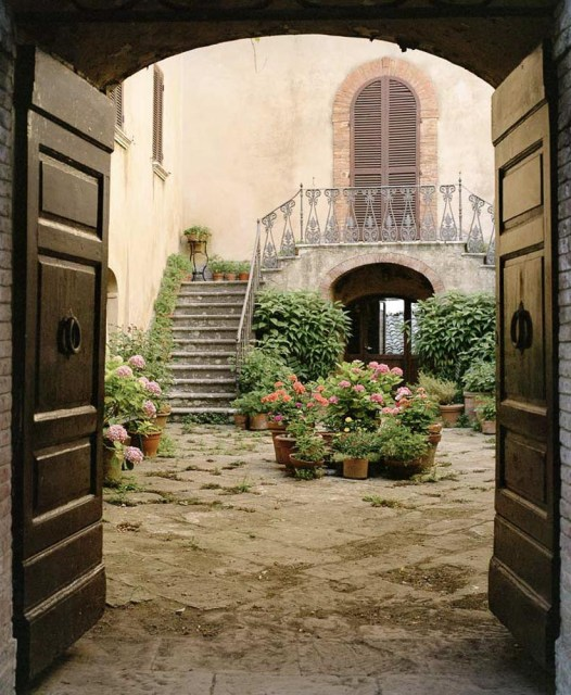 An Umbrian courtyard