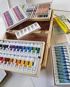 Schilderset- modelnr. Z23016 - Paget Trading Alle toebehoren om te schilderen in 1 koffer