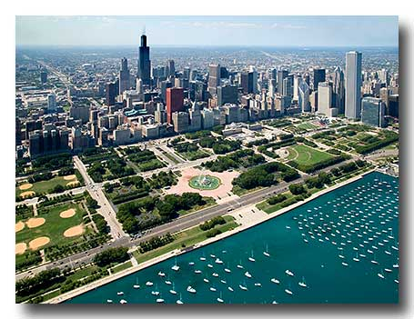 Grant Park Aerial Photos in Chicaqo by Marge Beaver