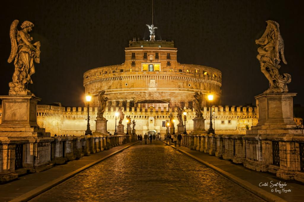 Wallpaper Images Of Mountains In Fall Castel Sant Angelo At Night