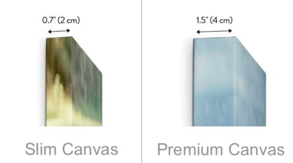 Slim Canvas depth vs Premium Canvas depth - Dave Mutton Photography