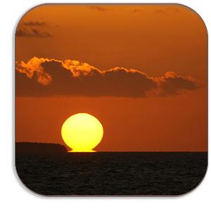 Photo Coaster - Sunset - Key West - by Dave Mutton Photography