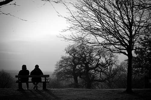 Strangers on a bench by johnnybelmont