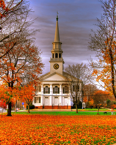Church on a New England Green by slack12