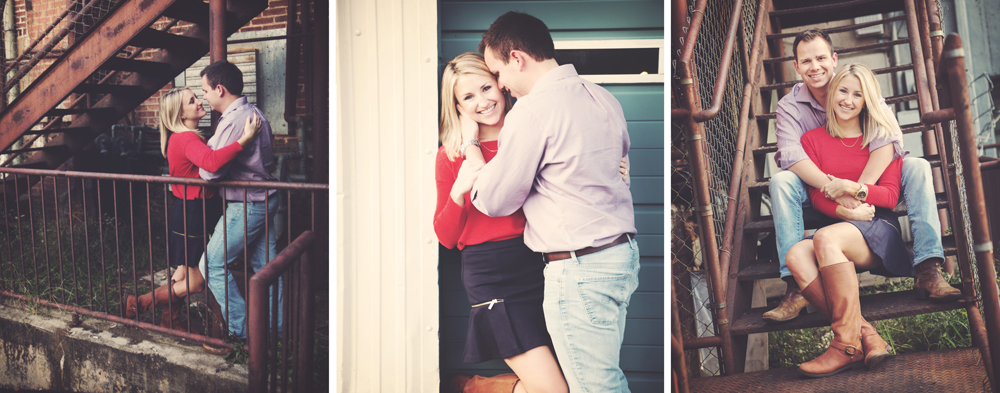 engagement session on Canton Street in historic Roswell, Roswell Wedding Photographer