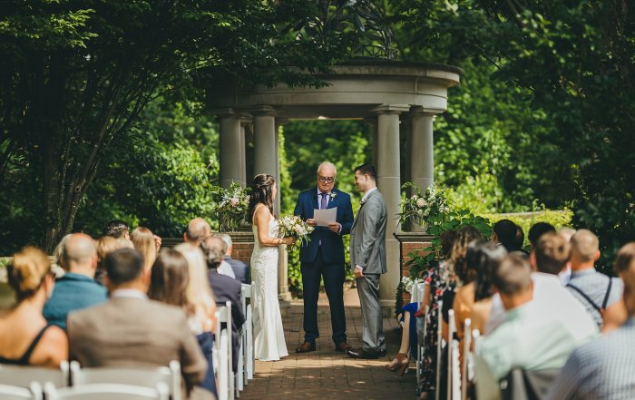Intimate Wedding Ceremony at the Atlanta Botanical Gardens Trustee Garden