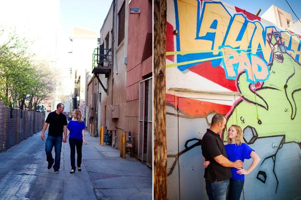 Downtown Engagement Photos. Albuquerque, New Mexico