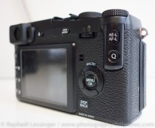Fujifilm X-E1 Q menu and macro