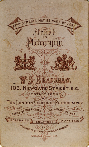 """Artist in Photography"", 103 Newgate Street, London (1880)"