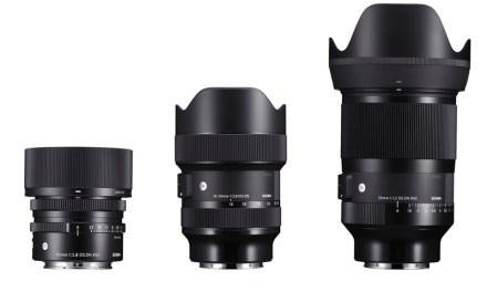 Sigma presenta en un evento nuevos objetivos: 2 para Sony y Montura L, y 3 para Canon EF-M