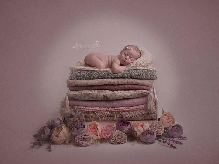 sleeping baby on blankets Photojos Photography
