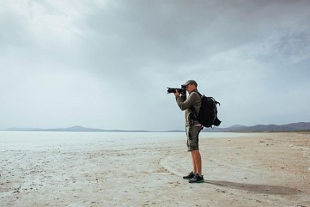 Image of a travel photographer