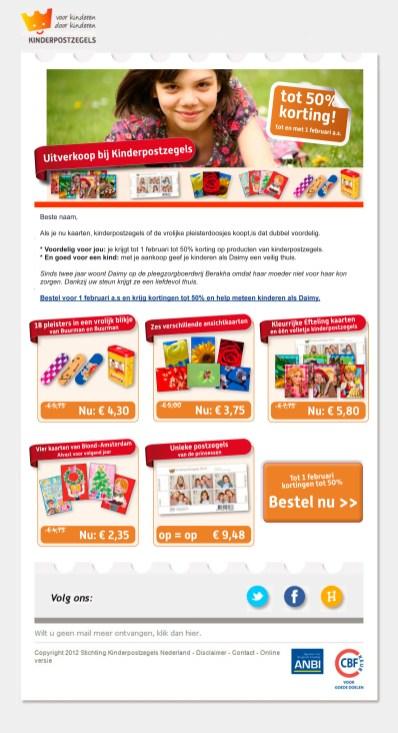Kinderpostzegels | E-mail newsletter - Design, Photoshop