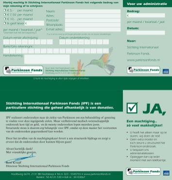 Internationaal Parkinson Fonds   Design, DTP