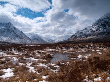 Winter landscape in the Scottish Highlands