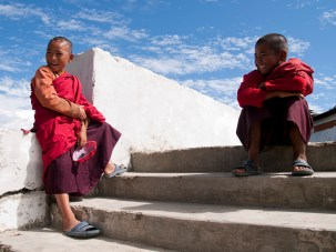Young monks in Bhutan