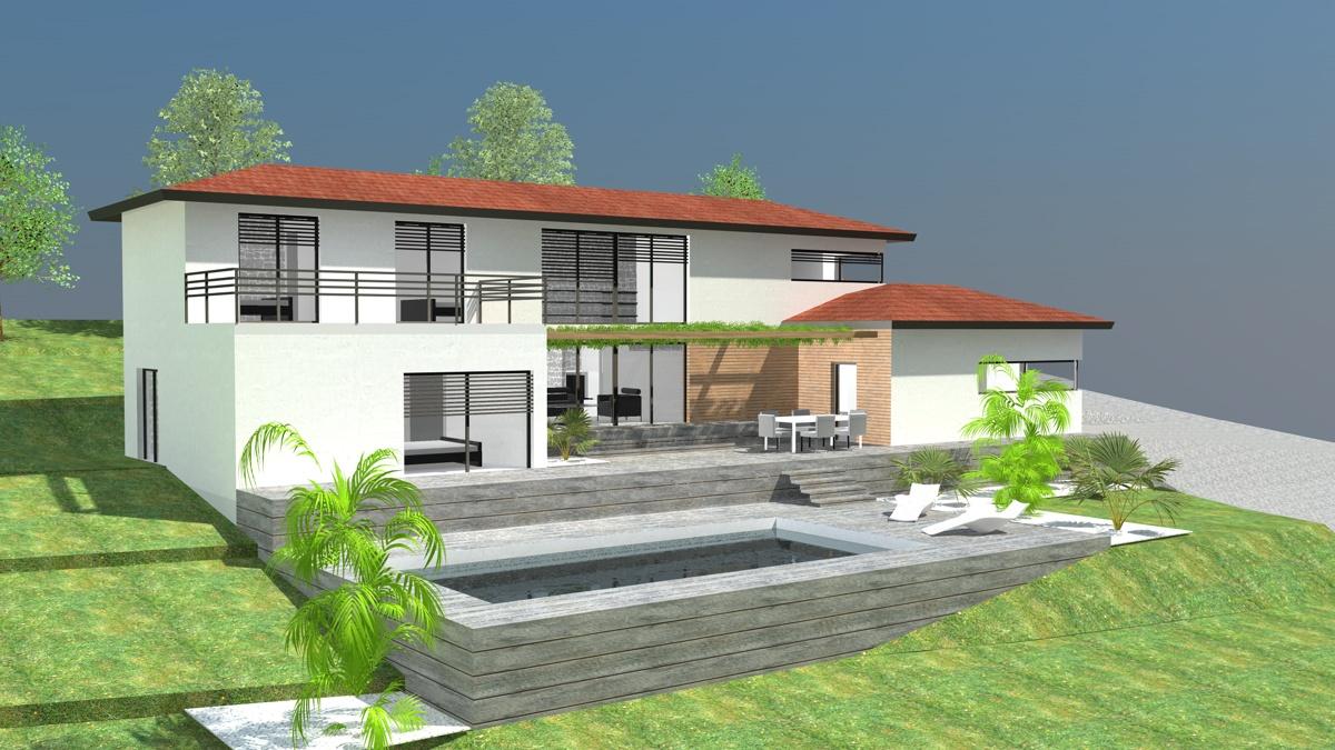 Maison moderne terrain en pente plan maison moderne terrain en pent