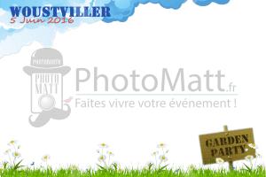 Thème photobooth borne photo selfie photomatt garden party