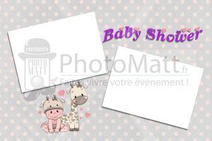 Thème photobooth borne photo selfie photomatt Baby shower bébé enfant