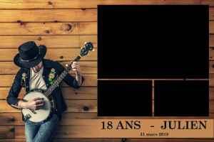 Personnalisation impressions photobooth photomatt presentation templates anniversaire musique guitare bois country blues