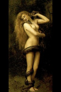 Victorian painter John Collier's Lilith as archetypal 'femme fatale': marriage wrecker and syphilitic whore