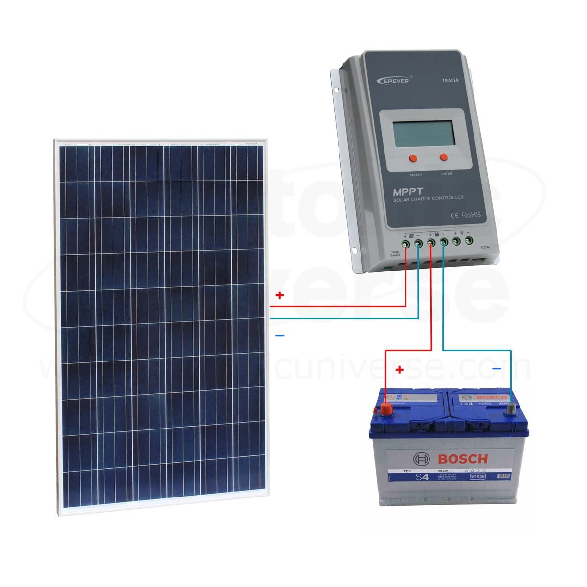 solar panel wiring diagram uk for wall lights 6w white light double cob led switch night 250w 12v 24v charging kit motorhome