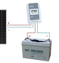 connection scheme for 200w 12v 24v photonic universe solar charging kit [ 1226 x 726 Pixel ]
