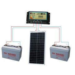 12v 100ah Battery Charger Circuit Diagram Zenith Updraft Carburetor Solar Panels Charging Kits For Caravans Motorhomes
