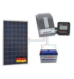 connection scheme for 250w 12v 24v photonic universe solar charging kit [ 1400 x 1400 Pixel ]