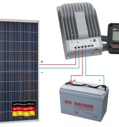 connection scheme for 275w 12v 24v photonic universe solar charging kit [ 1262 x 968 Pixel ]