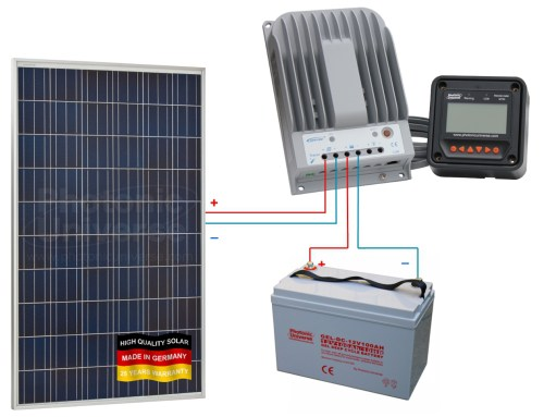small resolution of connection scheme for 275w 12v 24v photonic universe solar charging kit