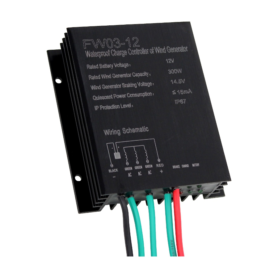 hight resolution of the controller seamlessly converts ac three phase output from a wind generator into