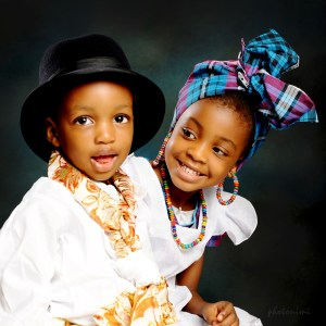 children in traditional attire