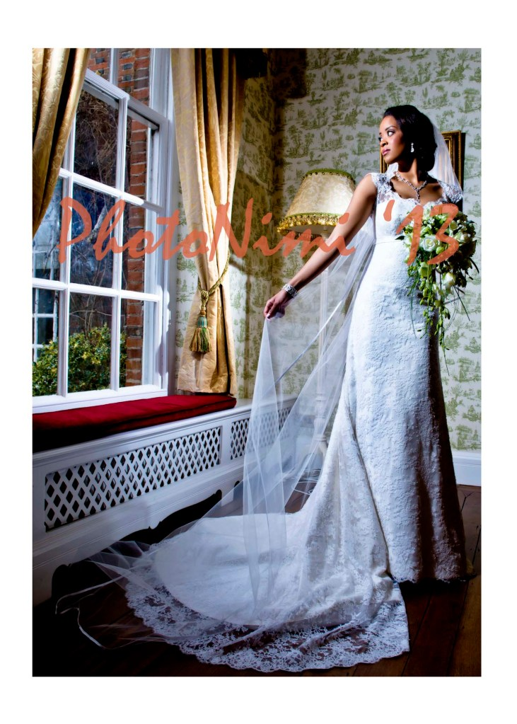 beautiful bride by the window