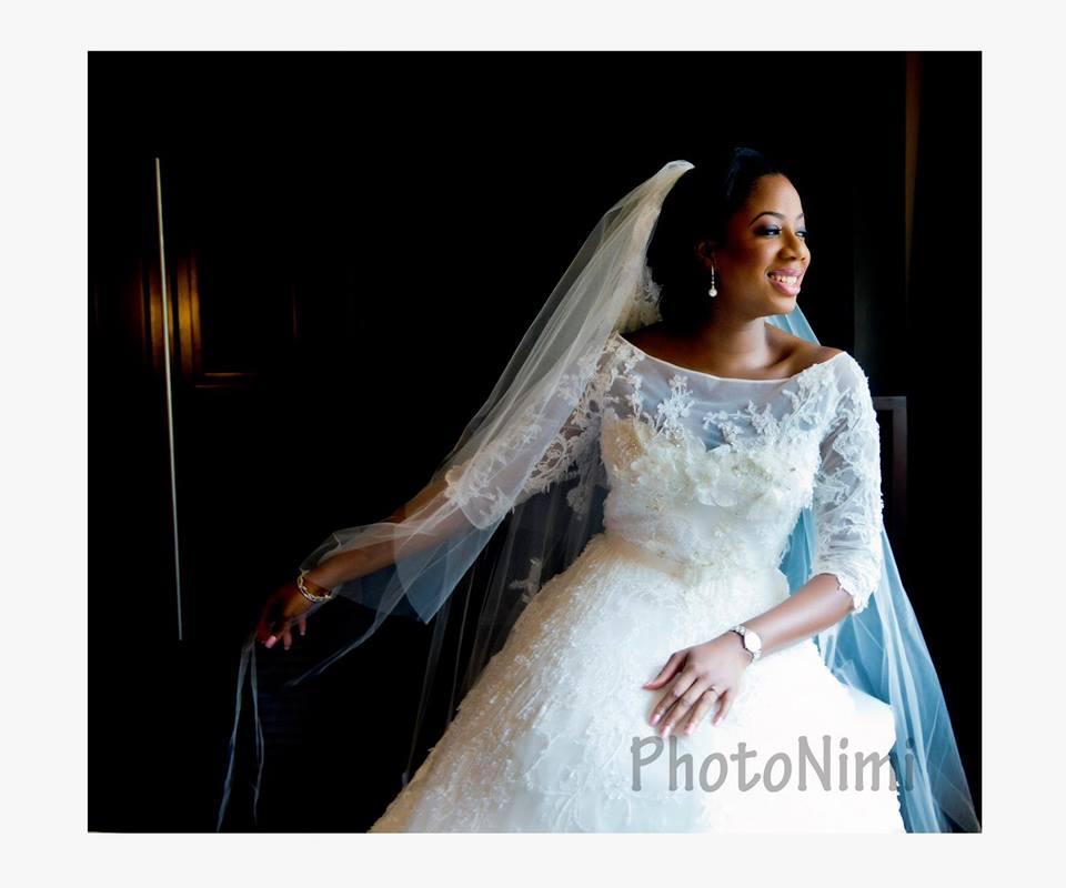 pretty smiling bride