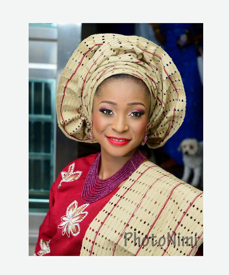 beautiful bride in aso-ofi