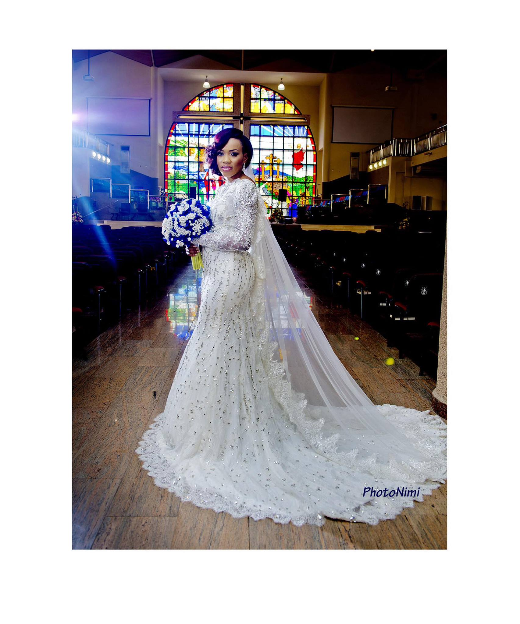 Beautiful Bride, Tobi, crafted and made her dress
