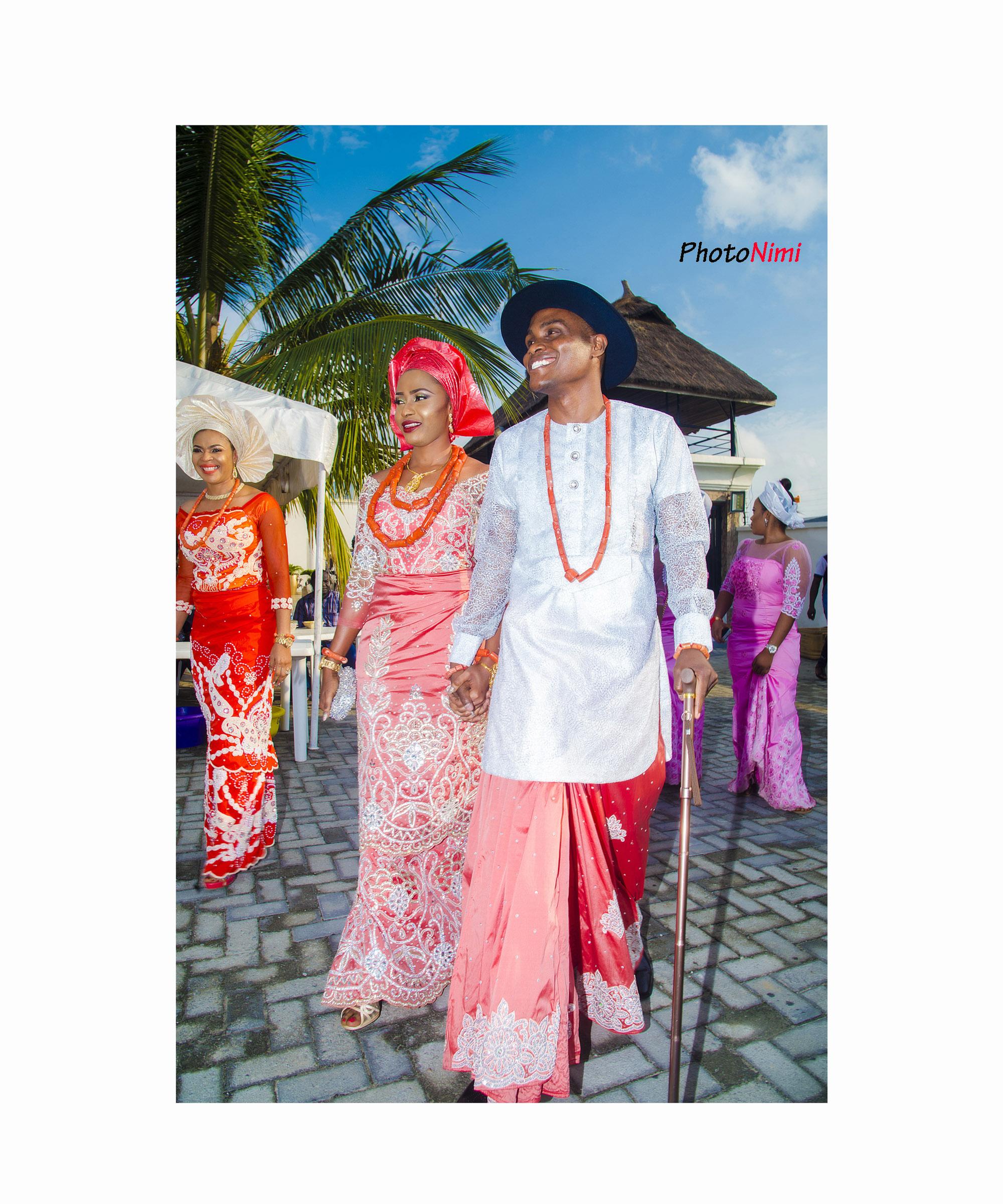 Oke & Chris, traditional Urhobo wedding engagement in lekki, lagos, photonimi, wedding photographer, bride, groom