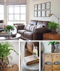 Living room photo collage