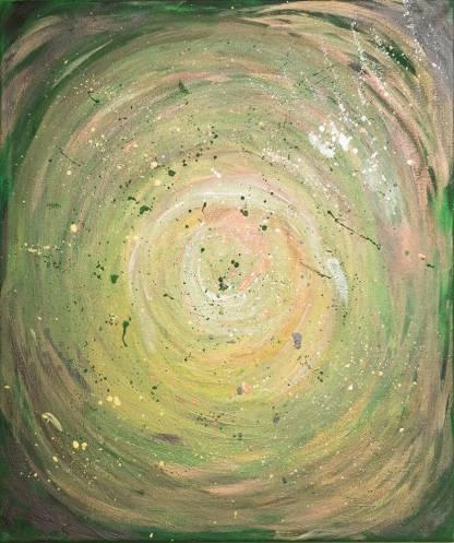 FURTUNA VERDE - pictură, acrilic pe pânză